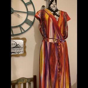 Plus Size Vibrant Maxi Dress